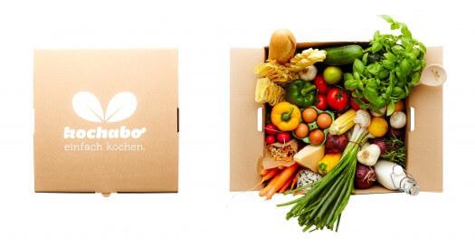 Die KochAbo Box ist prall mit frischen Gemüse gefüllt.