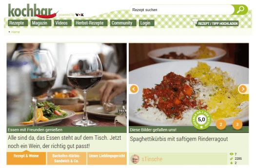 kochbar.de - Screenshot