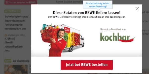 kochbar.de und REWE