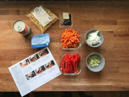 Kochbox-Zutaten im Bild