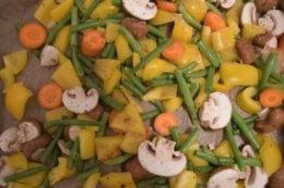 Gemüse auf enem Backblech